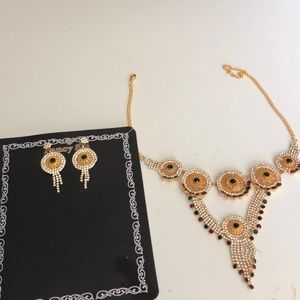 Fashion jewelry Neckless and Earrings set